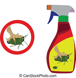 plastic container - container of poison for insects
