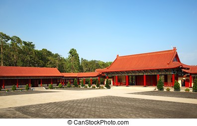 Courtyard of a Chinese Temple