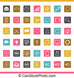 Set of 42 SEO internet icons