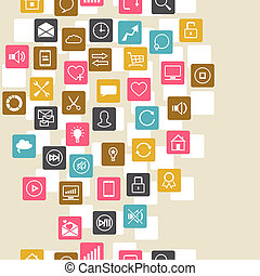 Social network background of SEO internet icons
