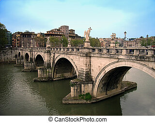 Sant Angelo Bridge - Sant Angelo Ponte in Rome Italia...