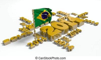 2014 Brazilian flag in slow motion - 2014 Brazilian Flag in...