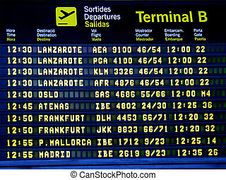 Airport Display Panel 2 - Display panel showing flight...