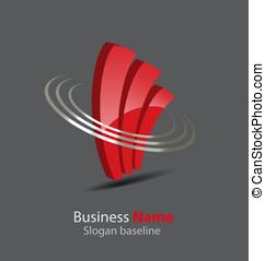 Abstract glossy 3D logo - Originally designed abstract...