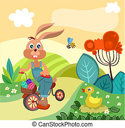 easter illustration - vector illustration of a easter...