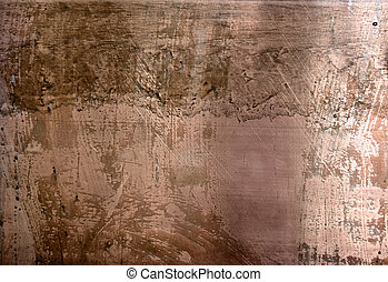 High resolution distressed copper surface - The fhoto of the...