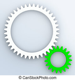 Gear System of Two Colorful Gears