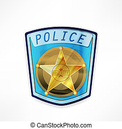 vector police badge