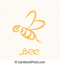 vector symbol of working bee