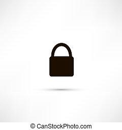 Pad lock - Vector icon