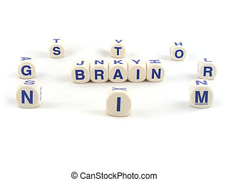 Brain Storming Written with Spelling Blocks Isolated on a...