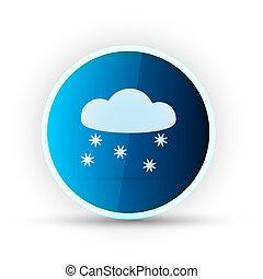 tempo, blu, lucido, icona, bianco, fondo