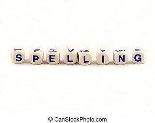 Spelling Blocks - Spelling blocks on a white background