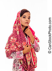 Muslimah Concept isolated on white
