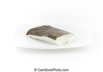 Raw cod fish. Seafood for sushi sashimi and other dishes -...