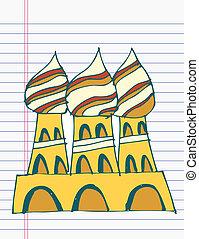 Drawing Taj Mahal