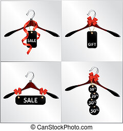 hanger sale - hanger design, emblem, sale in the shop,...