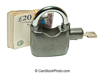 Money Padlock - security and safety