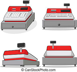 Cashier Machine - A vector image of a cashier machinecash...