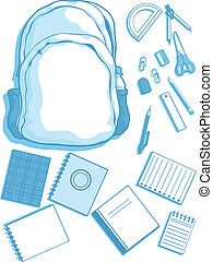 Customizable Vector Kits of School - A vector set of a...