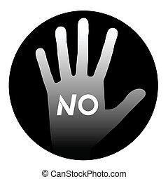 No hand - Creative design of no hand
