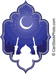 Ramadan and Eid Mubarak Greeting 2 - A vector set of...