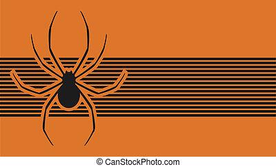 Orange banner spider - Creative design of orange banner...