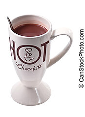 Hot chocolate drink clip art white BG with clipping path