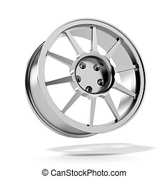 Car Alloy Rim isolated on a white background