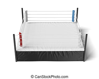 Boxing ring isolated on a white background