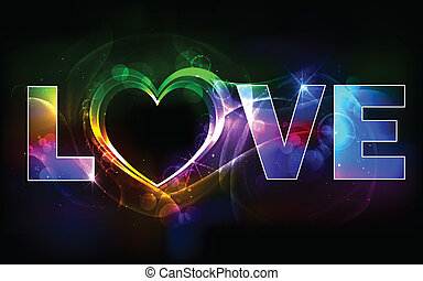 Colorful Love Background - illustration of colorful love...
