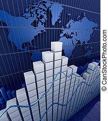Financial graph statistic Business stat background