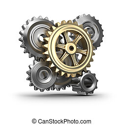 Business mechanism. Cogs and gears.