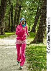 Sports Muslimah Woman Concept