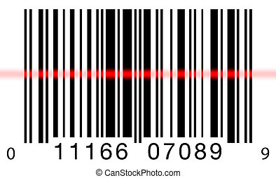 Barcode Scanning on White - Scanning a barcode on a white...