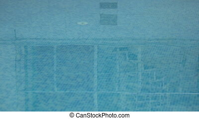 Swimming pool. - Calm water surface of swimming pool.