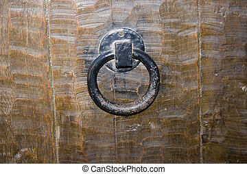 Knob - Old-fashioned brass door-handle
