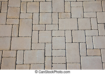 Concrete pavement texture - Texture of irregular concrete...