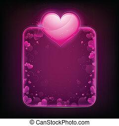 Shiny Heart Template - illustration of shiny heart on love...