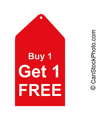 Retail Sales Tag - Buy one get one free