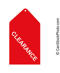 Retail Clearance Tag - Red retail clearance sales tag