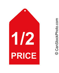 Retail Sales Tag - half price sales tag