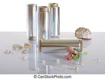 Tubes of foil for dyeing hair - Three tubes of foil for...