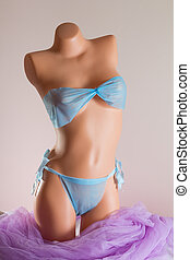 Woman spa single use swimsuit for depilation