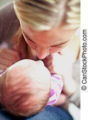 neonato, bambino,  bonding, madre