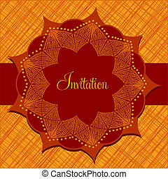 Invitation card with abstract flower