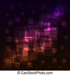 Abstract rounded squares colorful lights background. EPS10 file.