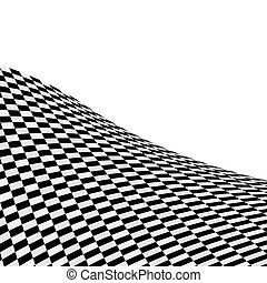 Black and white checked background - Abstract black and...