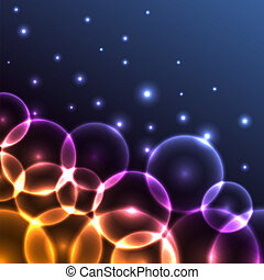 Abstract colorful glowing circles background. Eps10 file.