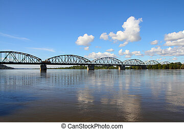 Truss bridge in Poland - Poland - Grudziadz, famous truss...